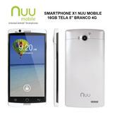 Smartphone Celular X1 Nuu Mobile 16gb Quad Core 4g Tela 5
