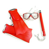 Kit Snorkel E Pé De Pato Infantil Bel Laranja