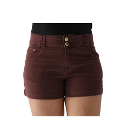 Short Feminino Color Marrom