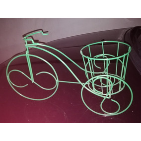Porta Macetas O Porta Vinos Tipo Bicicleta