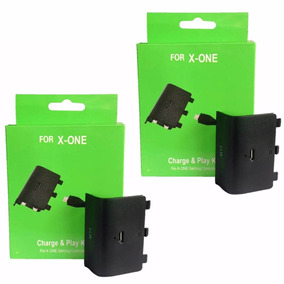 2bateria E Cabo Carregador Controle Xbox One Charge Play Kit