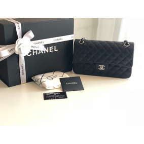 Bolsa Chanel 2.55 Preta Couro Lambskin Original Na Caixa