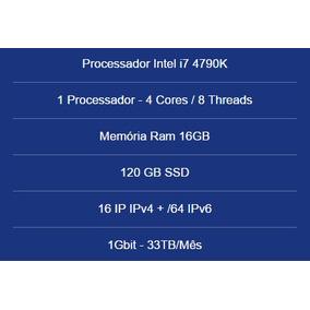 Servidor Dedicado Intel I7 4790k- 16gb Ram- 120gb Ssd- 16 Ip