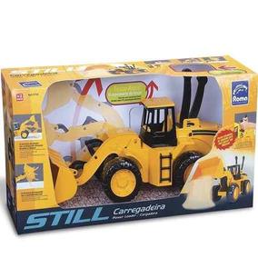Trator Infantil Carregadeira Still Com Alavancas Brinquedo