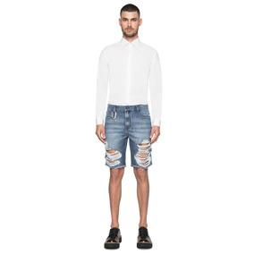 Bermuda Ellus Jeans Galaxy Denim Destroyed Masculina