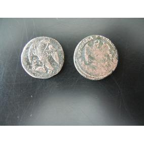 2.- Antiguas Monedas Octavo De Real 1824, 184? Durango