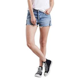 Shorts Jeans Levis 501 Altered Zip Lavagem Média