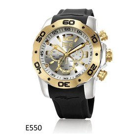Relógio Pulso Everlast Cronógrafo Aço E Pulseira Silicone