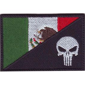 México Punisher Bandera Parche Bordado Parches Militar