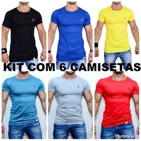 Kit C/ 6 Camiseta Masculina Long Line Em 11 Cores