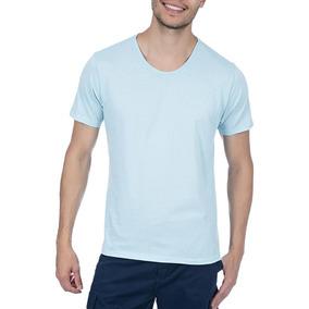 a9f592f8f Camiseta Colombo Masculina Azul Lisa por Camisaria Colombo