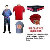 Kit Clássico Bombeiro Civil Farda Manga Longa - 6 Itens 42b6ccf0b89