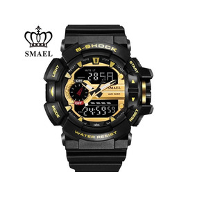 Relógio Masculino S-shock Gold Frete Grátis