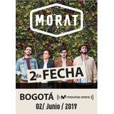 Boleta Concierto Morat 2 De Junio De 2019 (platea)