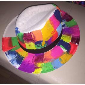 Sombreros Damas Pintados Moda - Sombreros Otros Tipos para Mujer en ... 7396e60ab4a