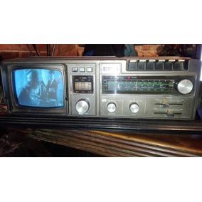 Radio Grabador Antiguo Tv Cassetero Japonés