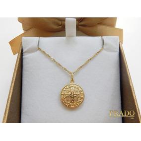 Medalha De Sao Bento Ouro 18 - Joias e Bijuterias no Mercado Livre ... 2a7633bc75