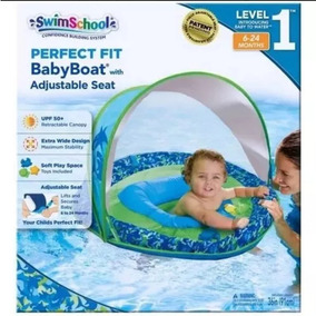 Boia Cobertura Retrátil Para Bebês Verde Azul - Swimschool
