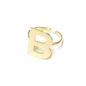 91932e63e68db Anel Letra B Ouro Feminino - Anéis com o melhor preço no Mercado ...