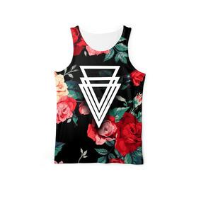 Camiseta Regata Masculina Floral Estampada Flowers Swag 439892da64e