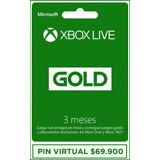 Xbox Live Gold 3 Meses   Codigo Original Colombia