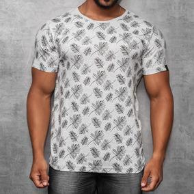Camisa T-shirt Silk Camiseta Folhas Rva Manga Curta Off