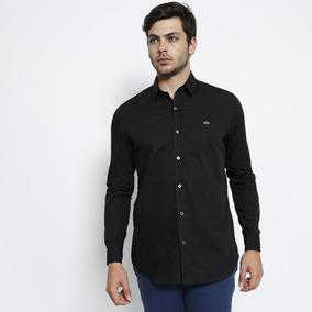 Camisa Ellus Manga Longa Cor Preta Com Bordados - Camisa Masculino ... 7d30c6cd04