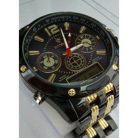 63302e6efbb Relógio Masculino Potenzia Luxo Analógico E Digital Kit C 5