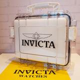 Maleta 3 Relógio Caixa Invicta Coleção Original Frete Grátis