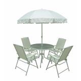 Conjunto Malibu Branco Cadeira Para Jardim 6 Peças Mor