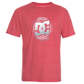 Camiseta Dc Shoes Vermelha Masculina Basic Heraldry Original 78b752232c21b