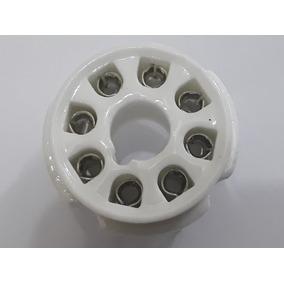 Soquete Valvula 8 Pinos Ceramica Octal P Pci 6l6 El34 Kt88