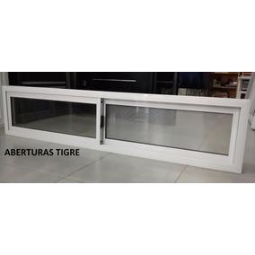 Ventanas Aluminio Blanco De 200x60 Vidrio Entero 4mm