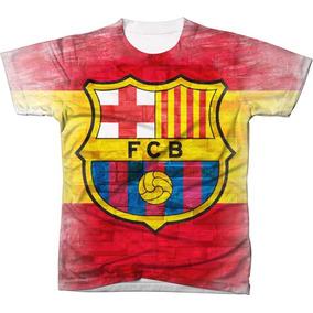 3c7268555e Camisa Barcelona Flash 3 - Camisetas e Blusas no Mercado Livre Brasil