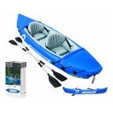 Kayak Inflable 2 Personas Con Asientos Y Remos De Aluminio