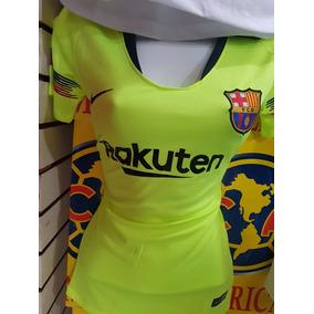 Jersey Playera Barcelona Visita Dama Neon (hay Tallas) b578f6f763e