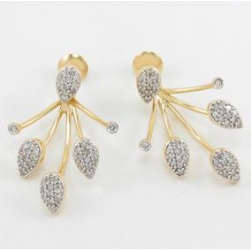 8ca7eae1be3 Vivara!! Brincos Ouro 18k 750 Pave Quadrado Diamantes - Brincos no ...