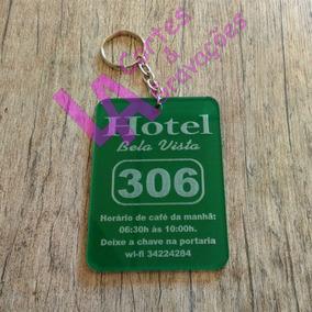 12 Chaveiros Para Hotel / Pousada Acrílico Corte Laser