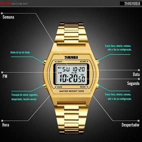 Relógio Masculino Skmei 1328 Sport Digital Ouro