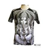 Camiseta Feminina Masculina Yoga Indiana Hippie Ganesha