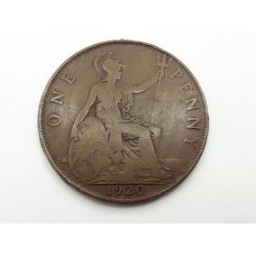 Moeda Reino Unido Colecionável - One Penny - Ano 1920