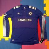 Camisa Chelsea Manga Longa - Camisa Chelsea Masculina no Mercado ... d4548d0dd6f59