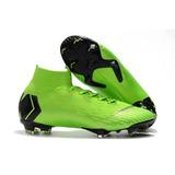 b94ff56393e1d Chuteira Da Nike Mercurial Branca Com Verde - Esportes e Fitness no ...
