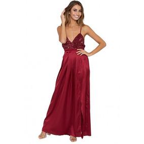 Elegante Vestido Largo De Tirantes Y Escote Espalda