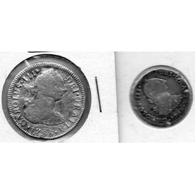 2.- Antigua Moneda 1 Y 2 Reales 1789 Y 1788
