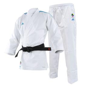 Kimono Karate adidas Adilight Branco Listras Azul