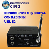 Mini Reproductor Digital Mp3, Lector Usb Sd Y Radio Fm