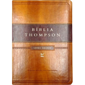 Bíblia De Estudo Thompson Grande Cor Marrom - Luxo Dourada