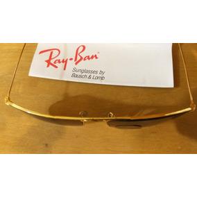 99d4748bf1143 Oculos Ray Ban Anos 90 Lentes Bausch Lomb Banhado A Ouro!!! R  710