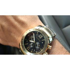 17ccd59016661 Relógio Masculino Dourado Grande Original Bulgati Ouro Limit
